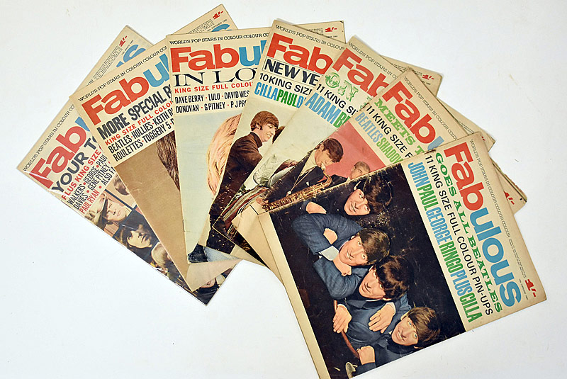 417. Seven Beatles-related Fabulous Magazines |  $49.20