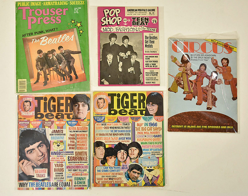 418. Five Beatles Music Magazines |  $24.60