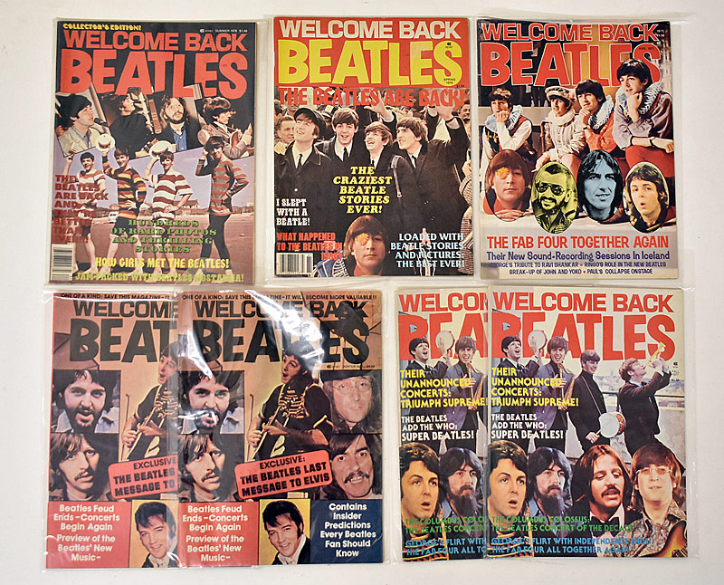 419. Seven Issues of Welcome Back Beatles Magazine |  $11.80