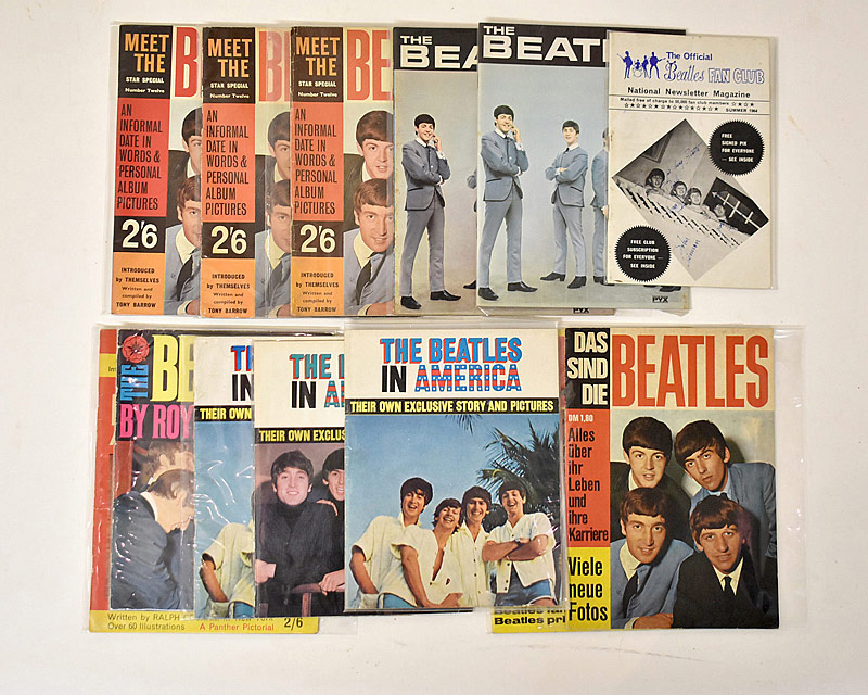 423. Thirteen Beatles Picture Magazines |  $47.20
