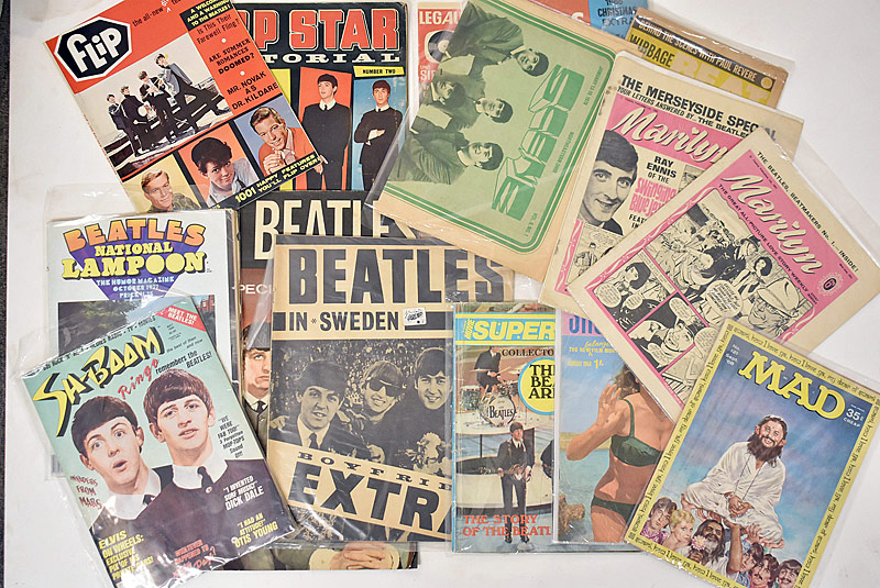 424. Fifteen Beatles-Related Magazines |  $35.40