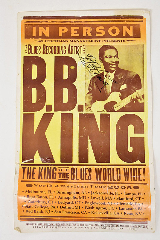 434. B.B. King Signed 2005 North American Tour Poster |  $184.50