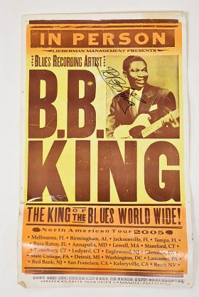 434. B.B. King Signed 2005 North American Tour Poster    $184.50
