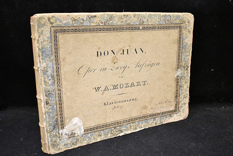 438. Wolfgang Mozart. Bound Score for Don Juan (Il Don Giovanni), 1815 |  $82.60
