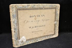 438. Wolfgang Mozart. Bound Score for Don Juan (Il Don Giovanni), 1815    $82.60